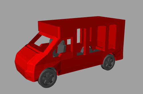 3D Printed SWB Transit Ice Cream Van