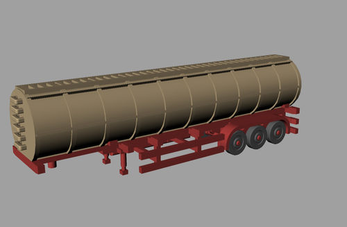 3D Printed Chemical Tanker Trailer