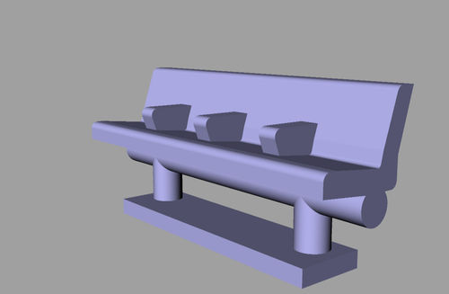 Lineside accessories Seat Style 4